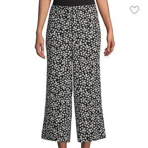 En Thread  Crop Wide-Leg Daisy Floral Pants